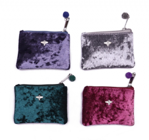 VELVET BEE COIN PURSE ROUGE